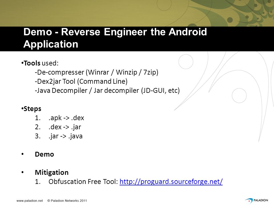 Demo - Reverse Engineer the Android Application