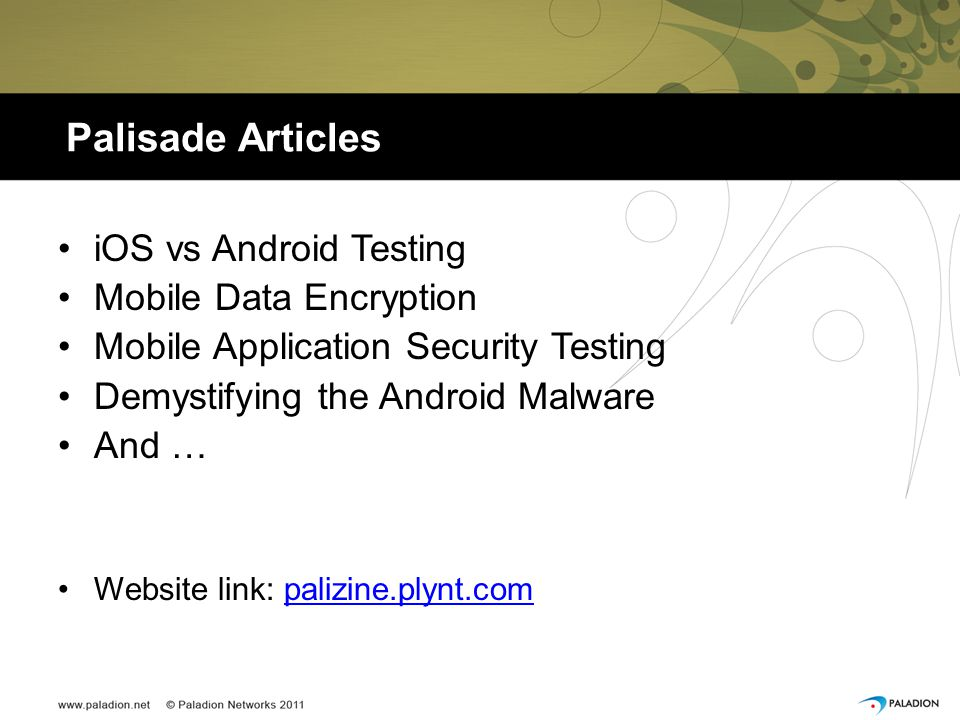 Palisade Articles iOS vs Android Testing Mobile Data Encryption