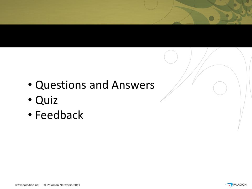Questions and Answers Quiz Feedback