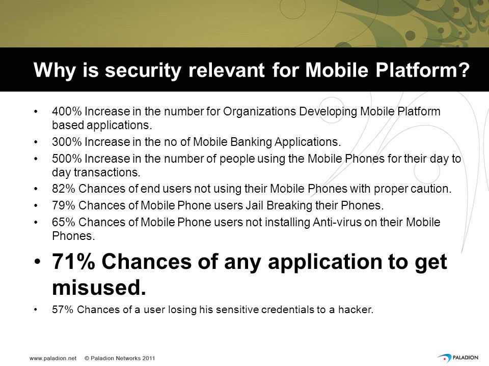 Why is security relevant for Mobile Platform