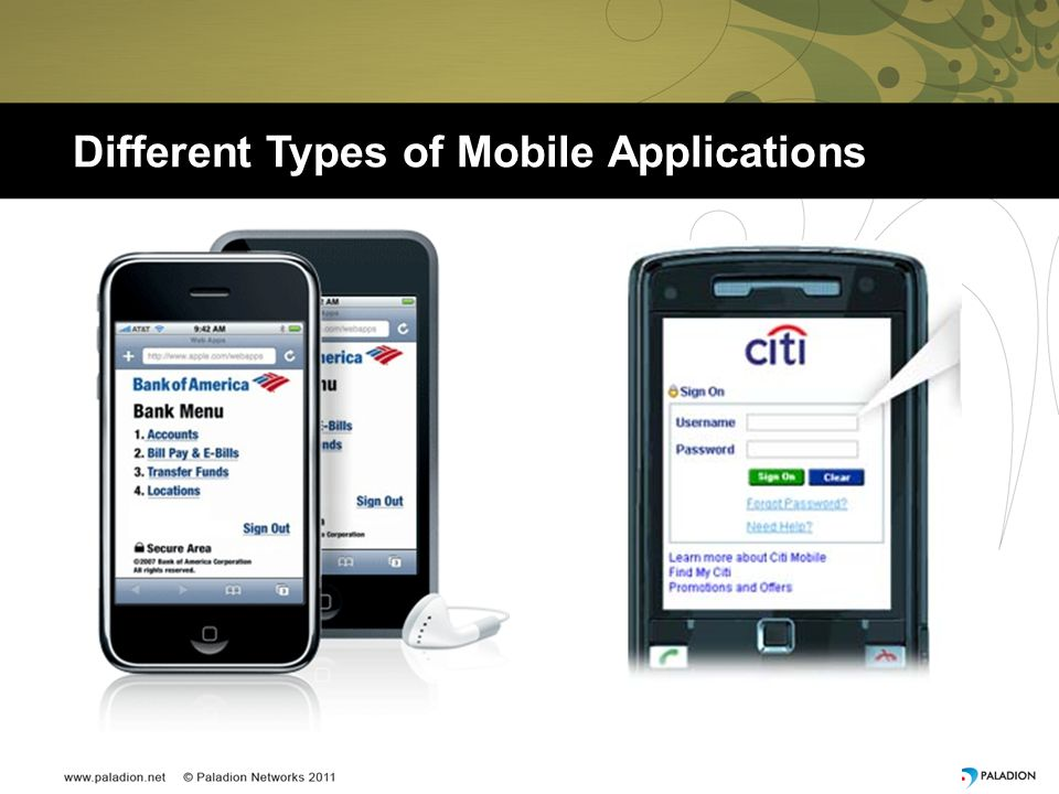 Different Types of Mobile Applications