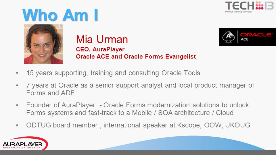 Who Am I Mia Urman CEO, AuraPlayer