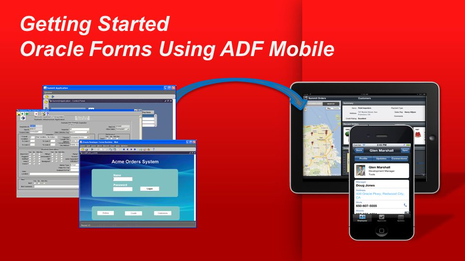 Getting Started Oracle Forms Using ADF Mobile