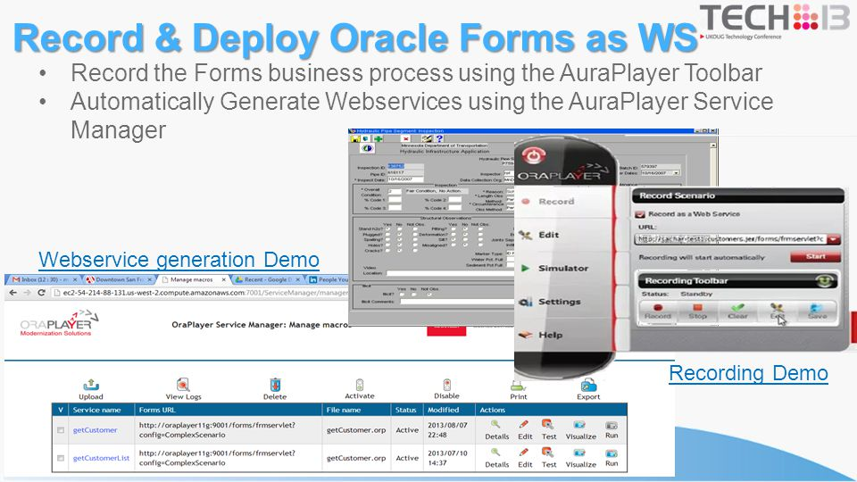 Record & Deploy Oracle Forms as WS
