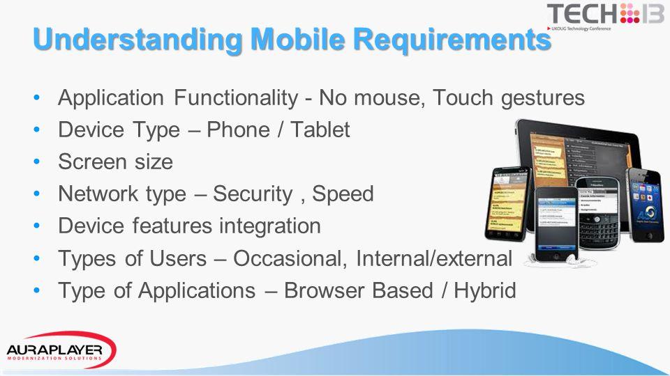 Understanding Mobile Requirements