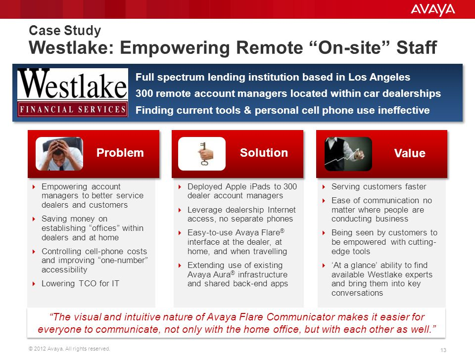 Case Study Westlake: Empowering Remote On-site Staff