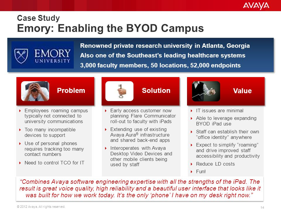 Case Study Emory: Enabling the BYOD Campus