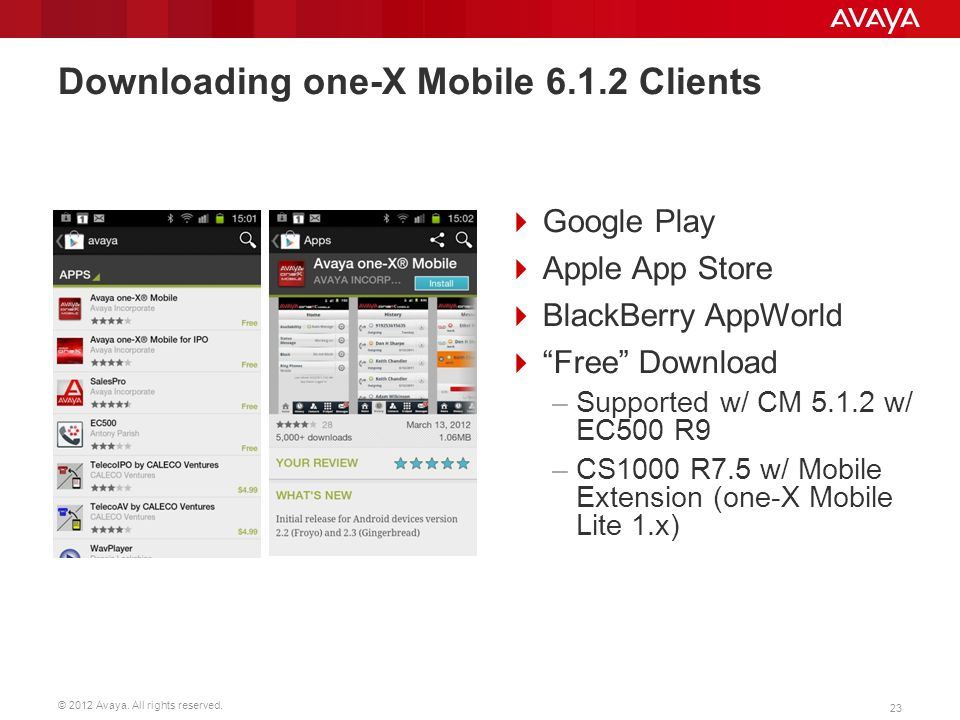 Downloading one-X Mobile 6.1.2 Clients