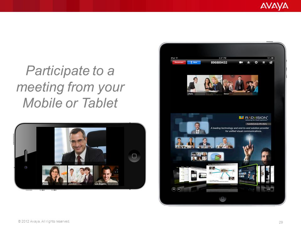 Participate to a meeting from your Mobile or Tablet