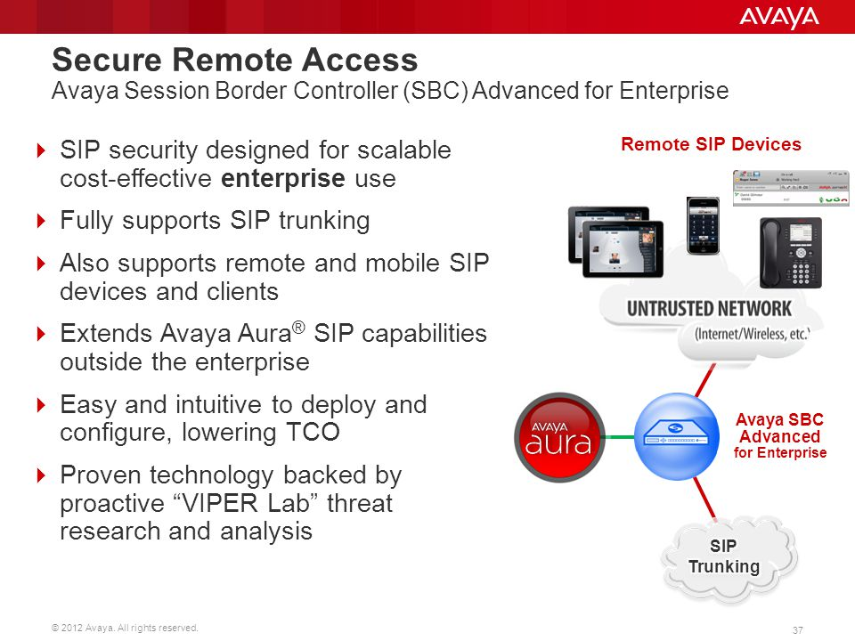 Avaya SBC Advanced for Enterprise