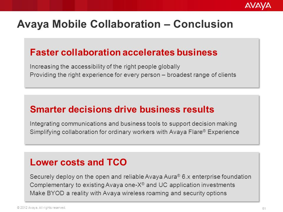 Avaya Mobile Collaboration – Conclusion