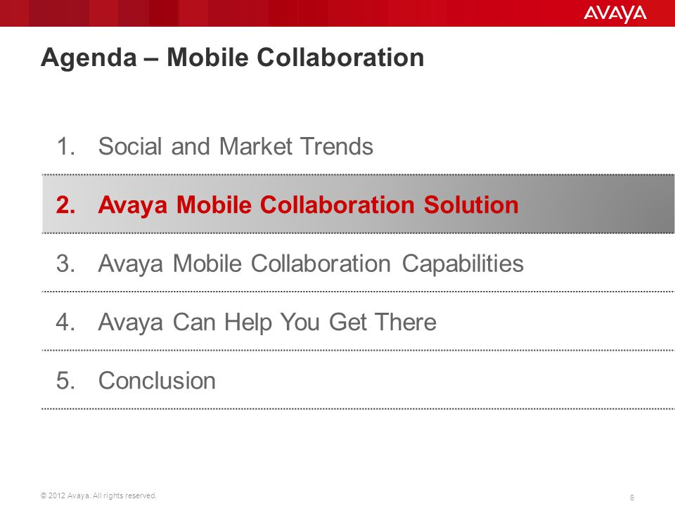 Agenda – Mobile Collaboration