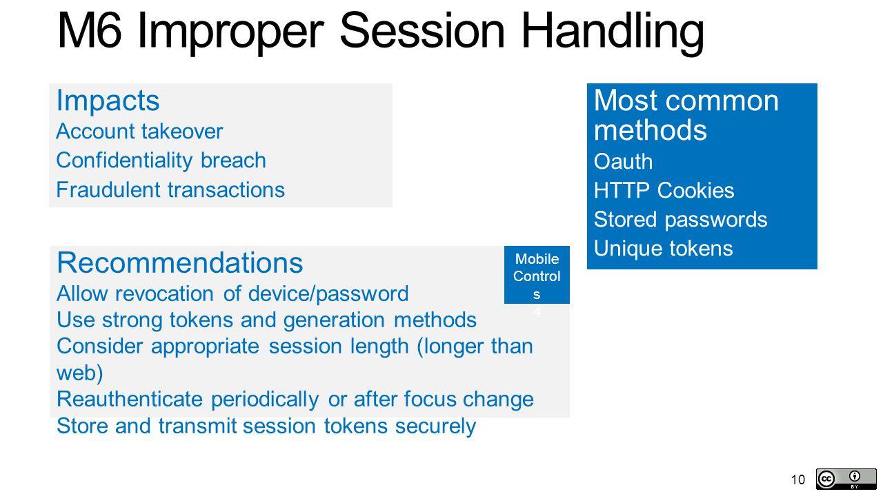 M6 Improper Session Handling