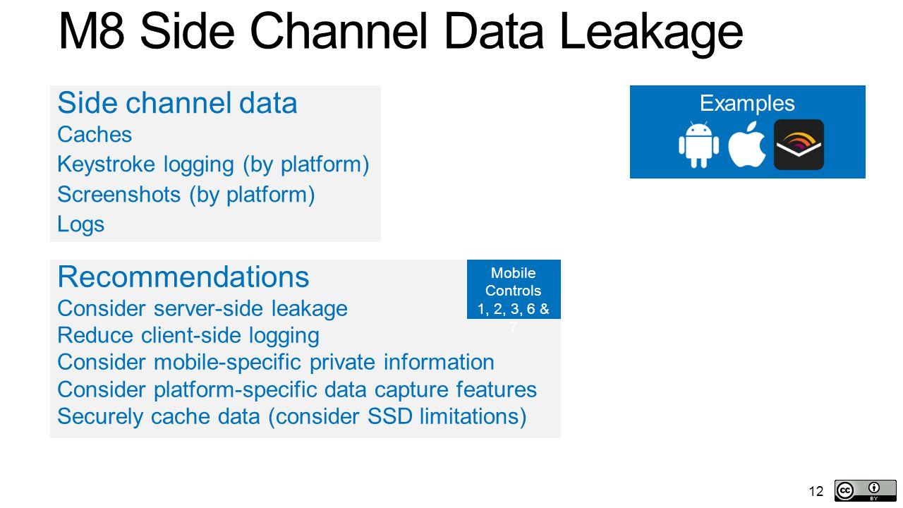 M8 Side Channel Data Leakage