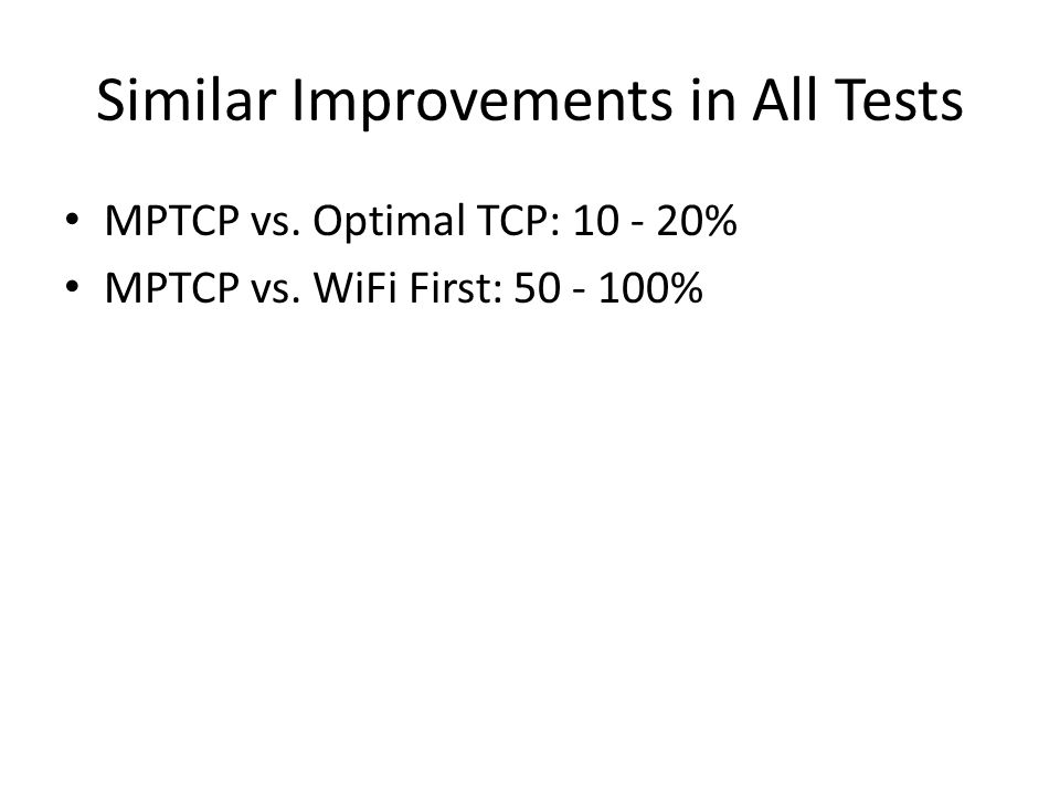 Similar Improvements in All Tests