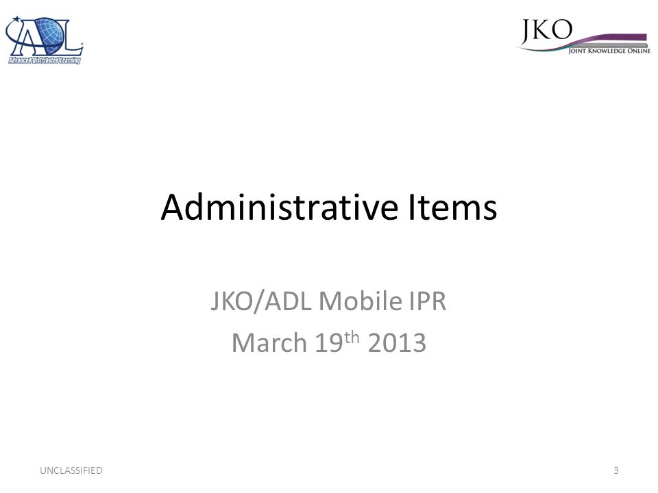 JKO/ADL Mobile IPR March 19th 2013