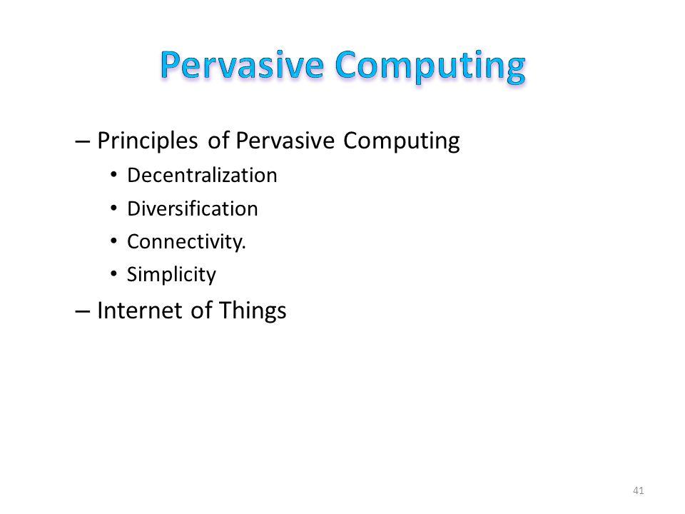 Pervasive Computing radio frequency identification (RFID)