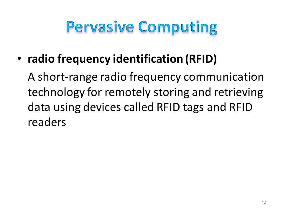 Pervasive Computing RFID Basics RFID Applications