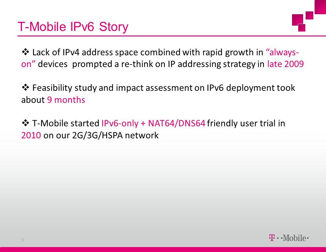 T-Mobile IPv6 Story