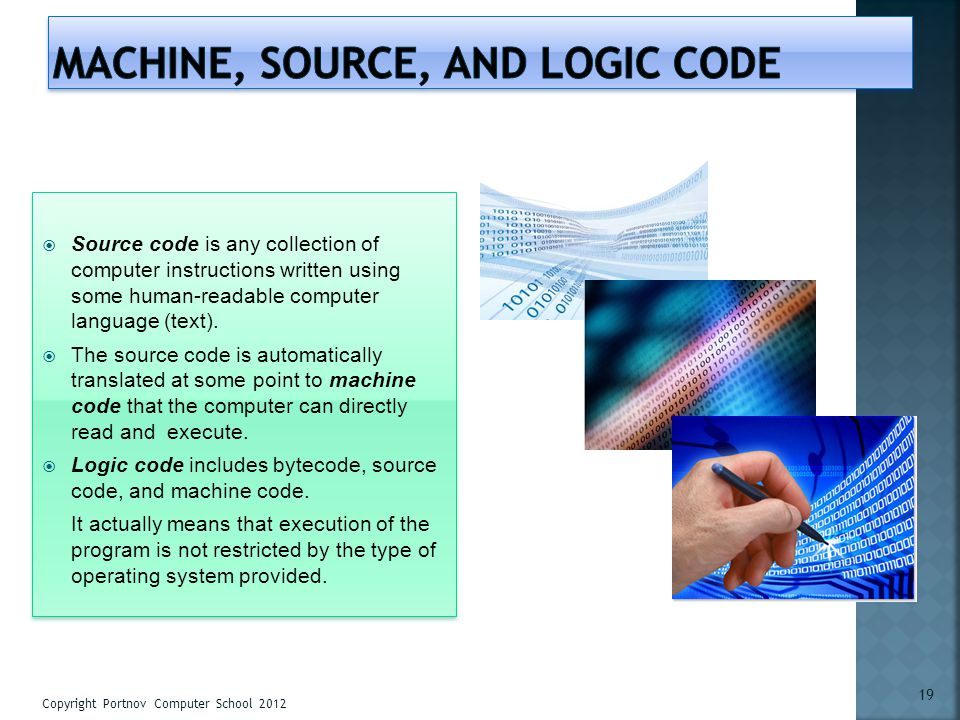 machine, source, and logic code