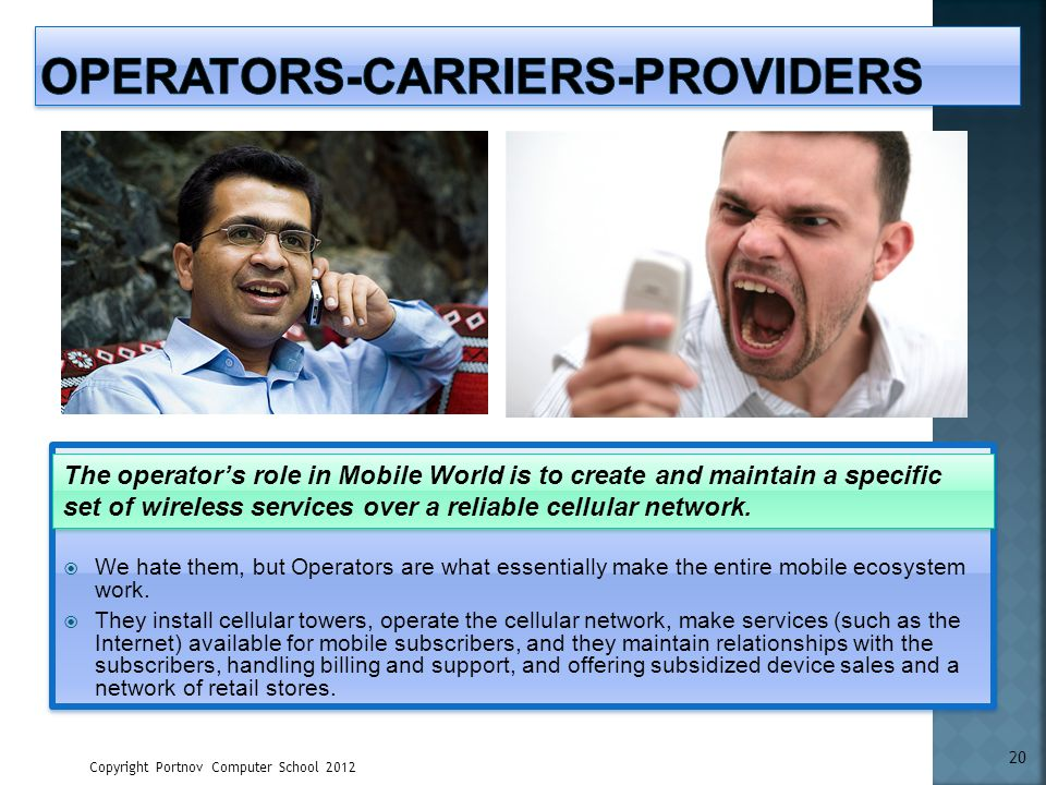 Operators-Carriers-Providers