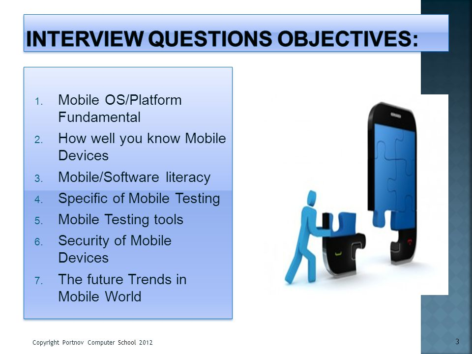 interview Questions objectives: