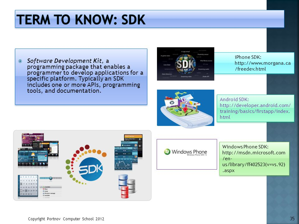 Term to know: SDK