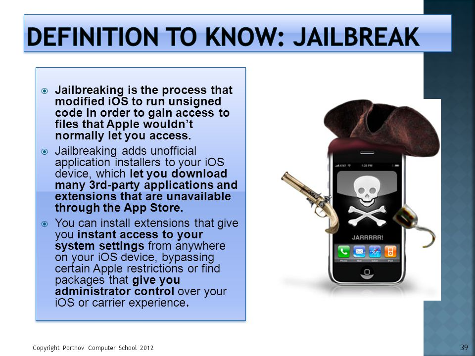Definition to know: Jailbreak