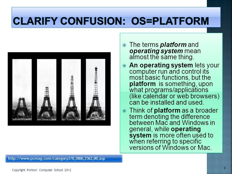 Clarify confusion: OS=Platform