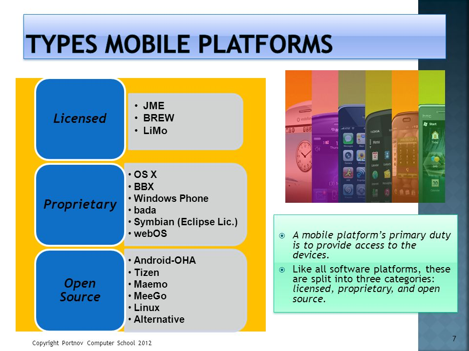 Types Mobile Platforms