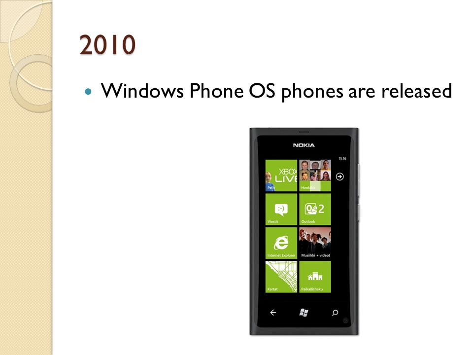 2010 Windows Phone OS phones are released