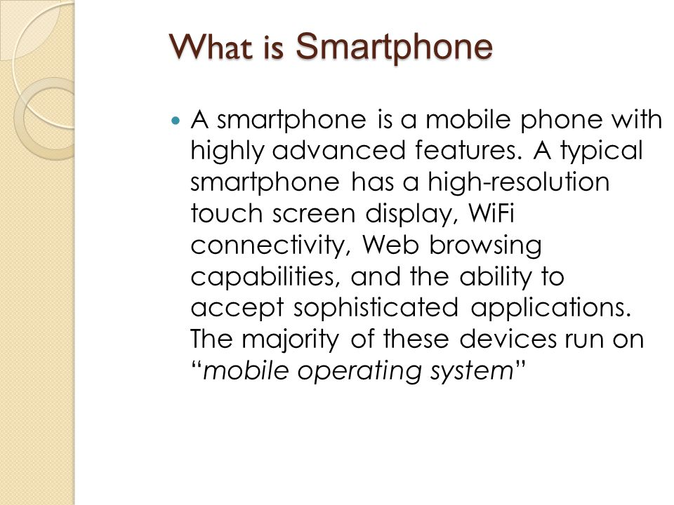 What is Smartphone