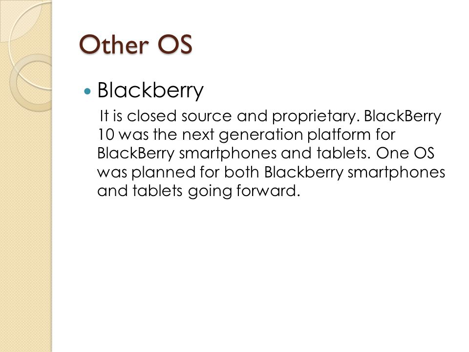 Other OS Blackberry.