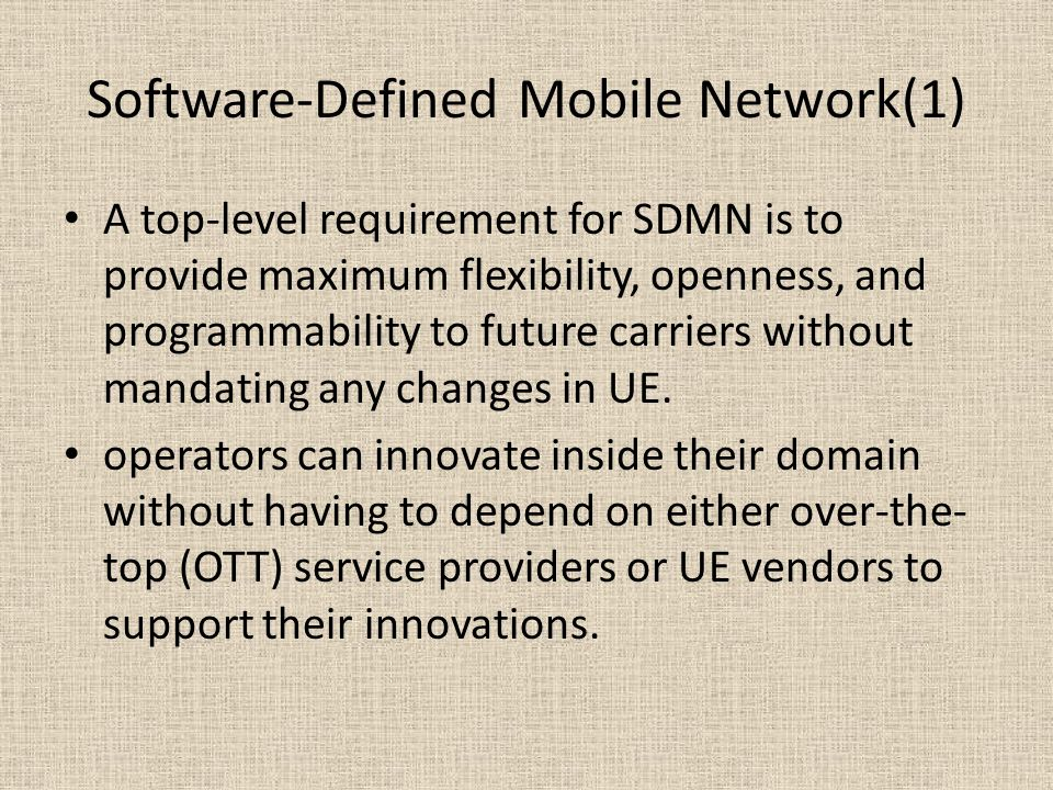 Software-Defined Mobile Network(1)