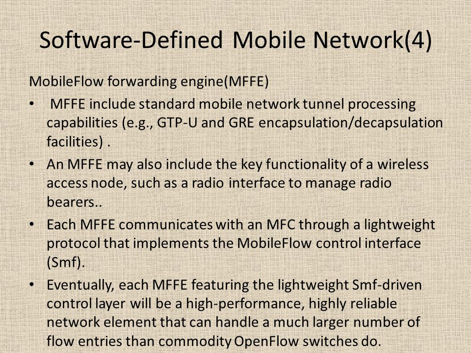 Software-Defined Mobile Network(4)