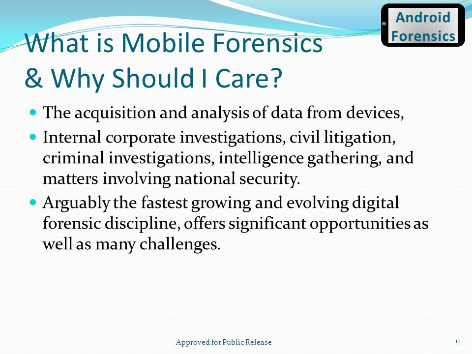 What is Mobile Forensics & Why Should I Care