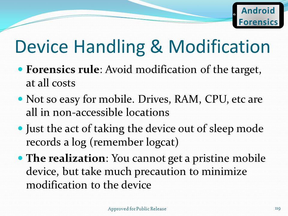 Device Handling & Modification