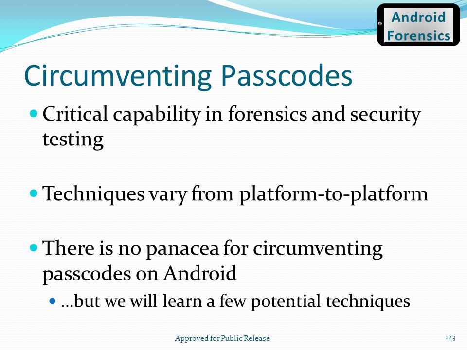 Circumventing Passcodes