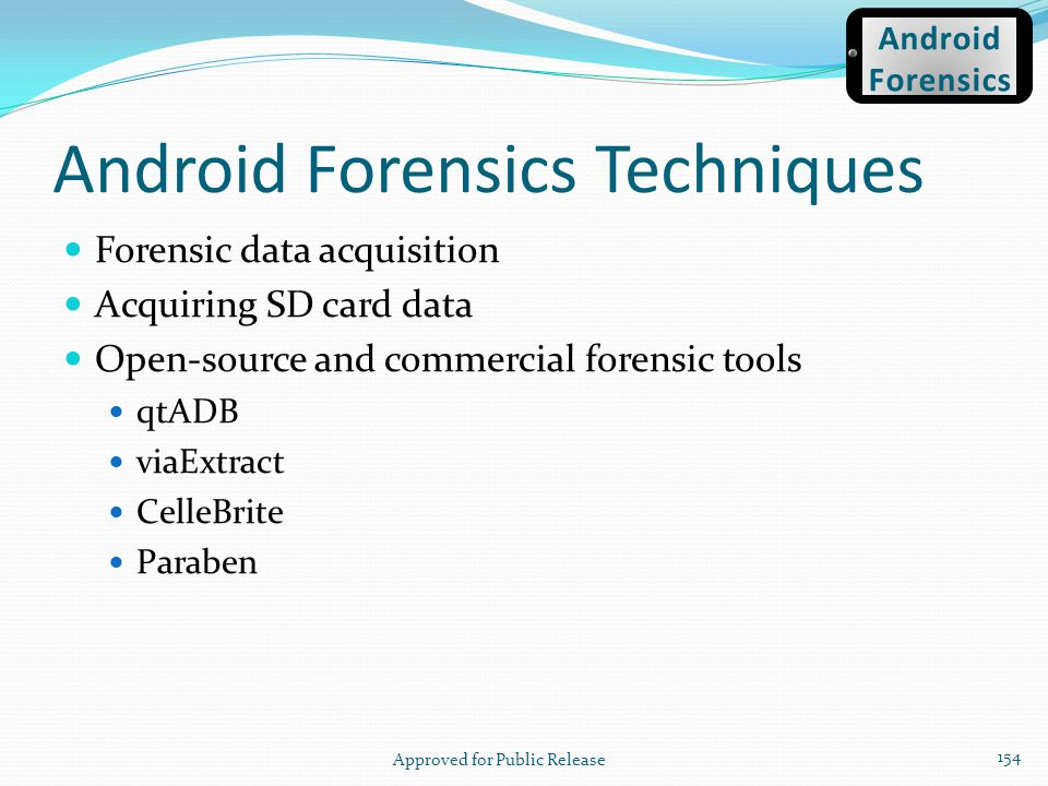 Android Forensics Techniques