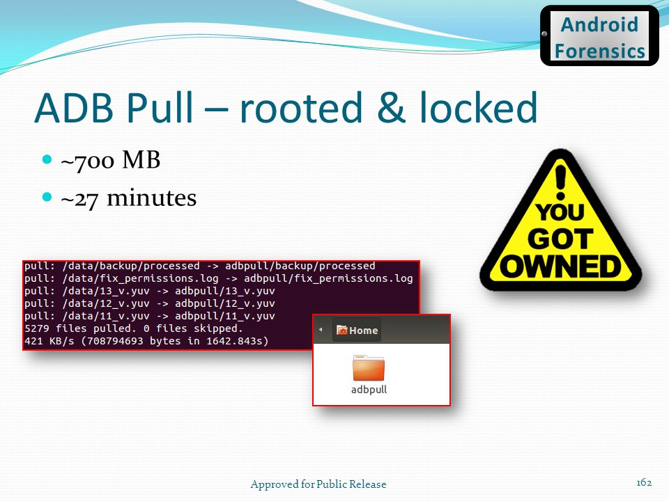 ADB Pull – rooted & locked