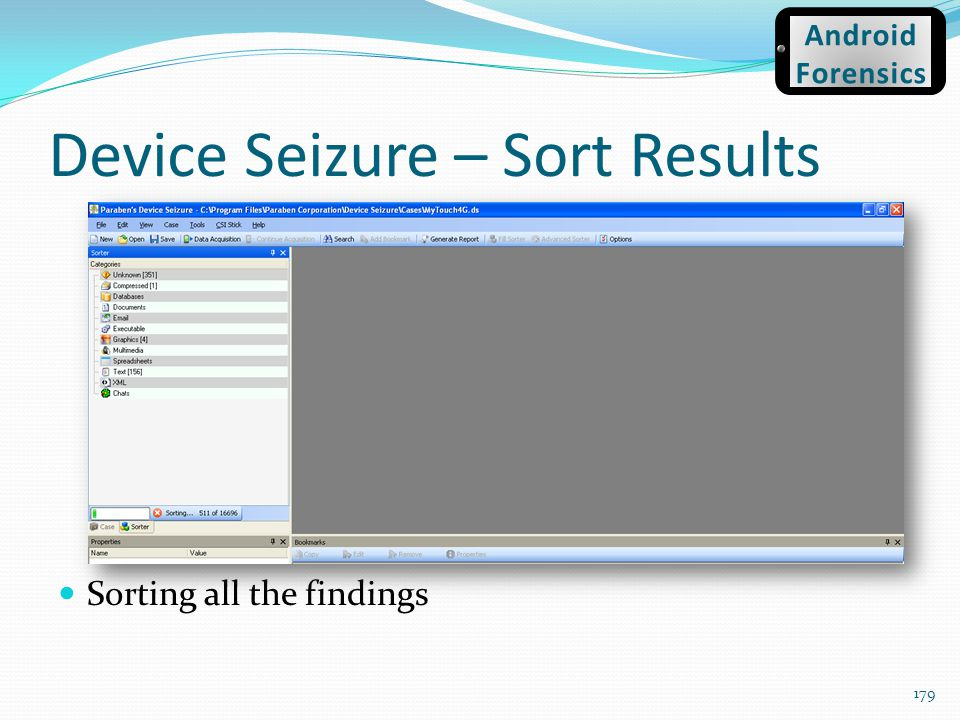 Device Seizure – Sort Results