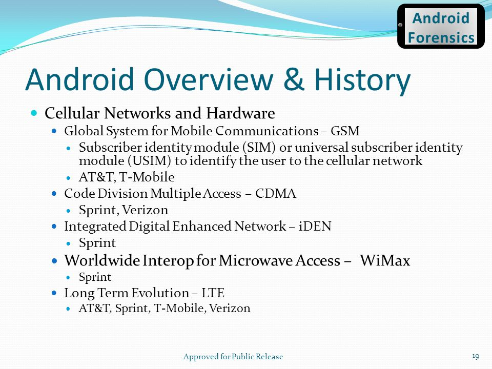 Android Overview & History