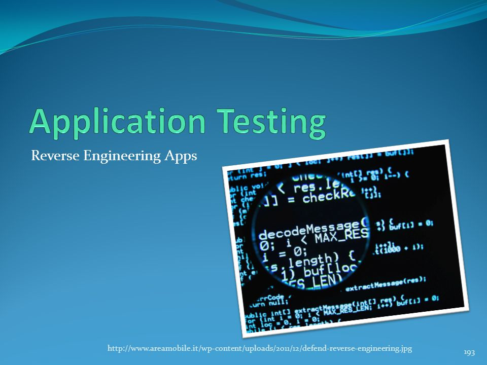 Application Testing Reverse Engineering Apps