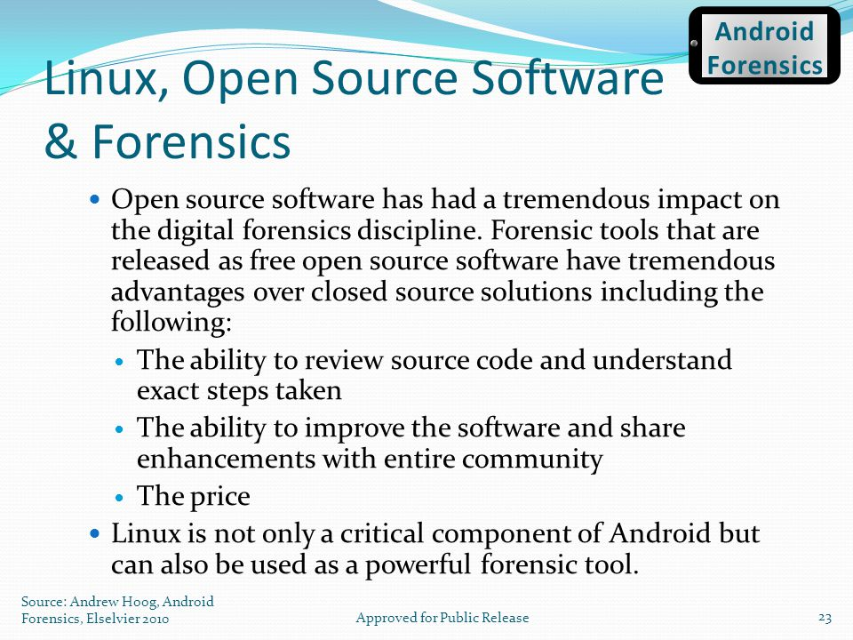 Linux, Open Source Software & Forensics