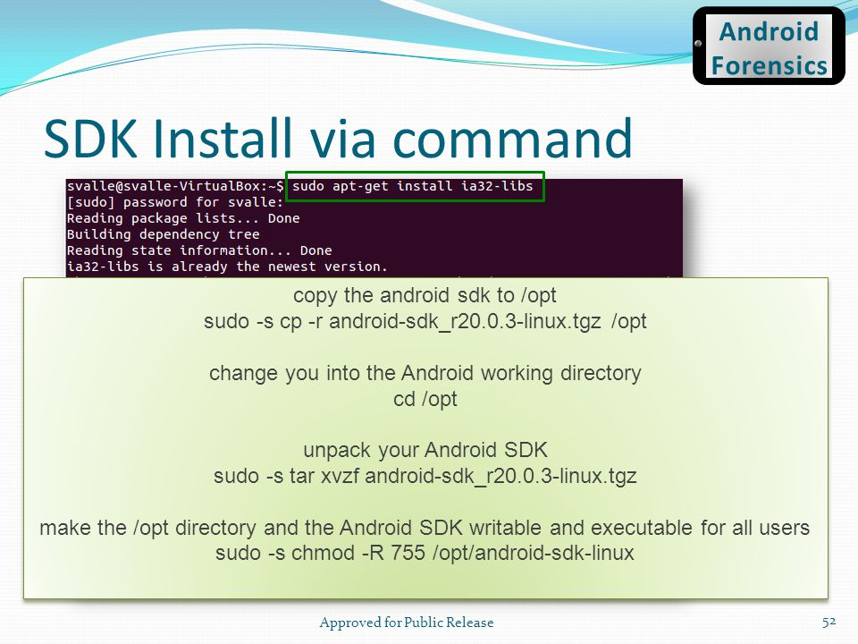 SDK Install via command