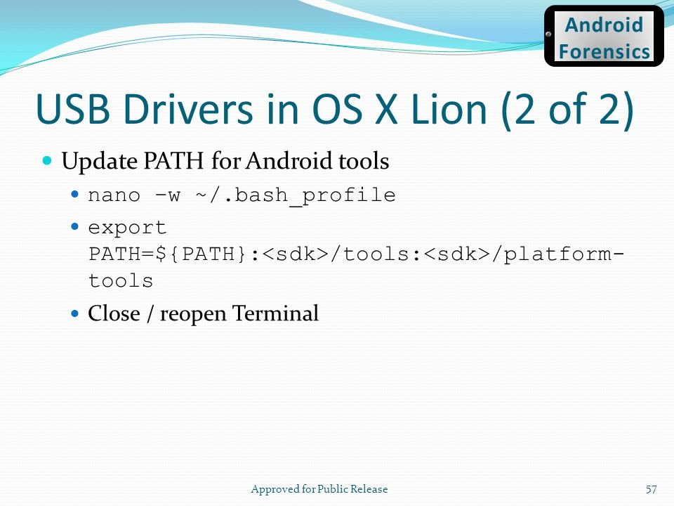 USB Drivers in OS X Lion (2 of 2)