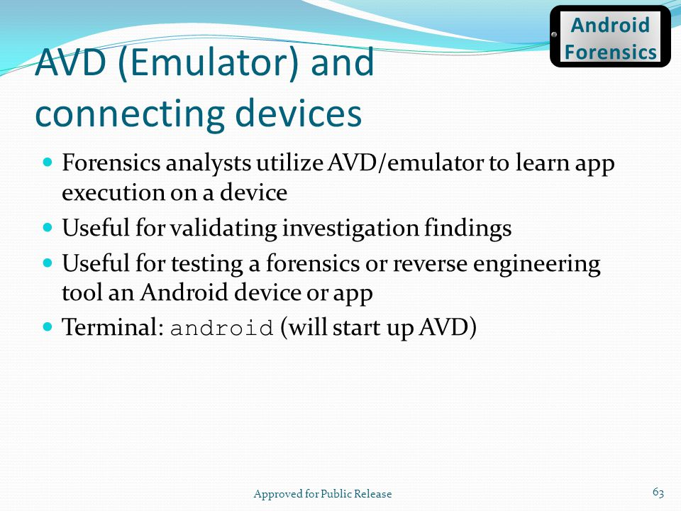 AVD (Emulator) and connecting devices