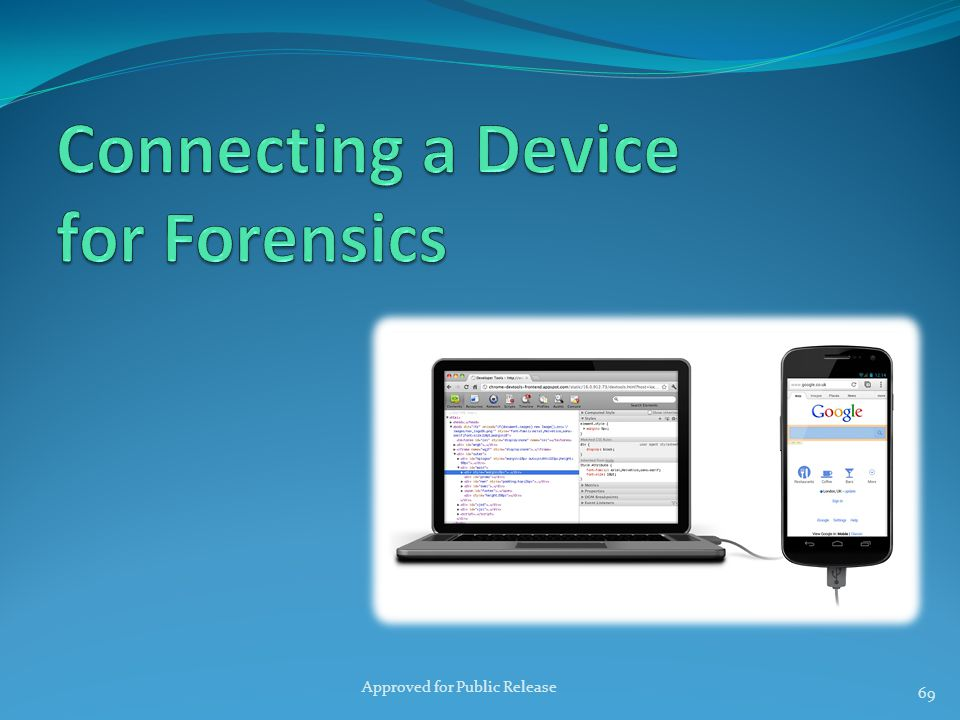 Connecting a Device for Forensics