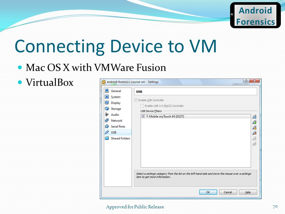 Connecting Device to VM