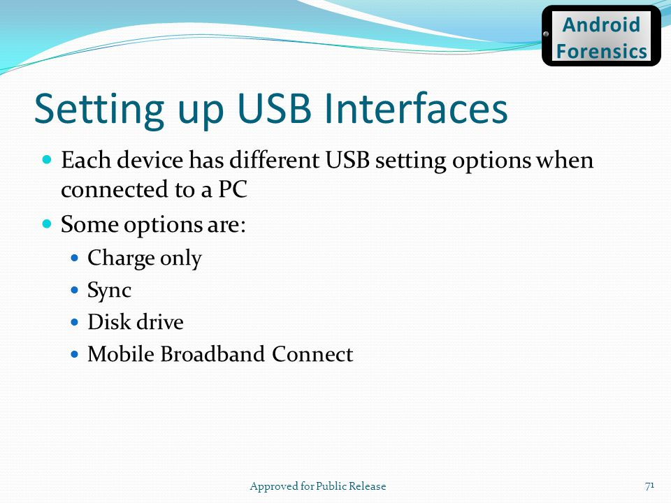 Setting up USB Interfaces